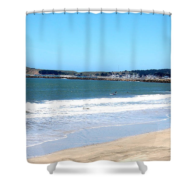 California Shower Curtain Featuring The Photograph Beach At El Granada By Carolyn Donnell