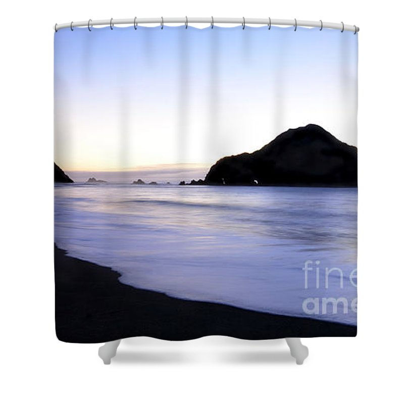 Ocean Shower Curtain featuring the photograph California Beach by Bob Christopher
