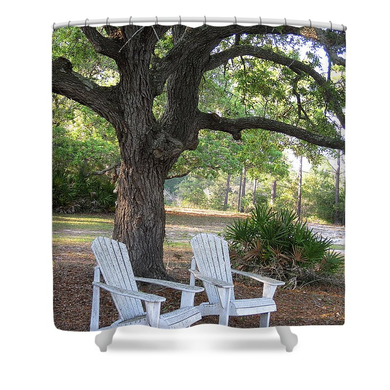 Chairs Shower Curtain featuring the photograph Callaway Chairs by Jan Prewett