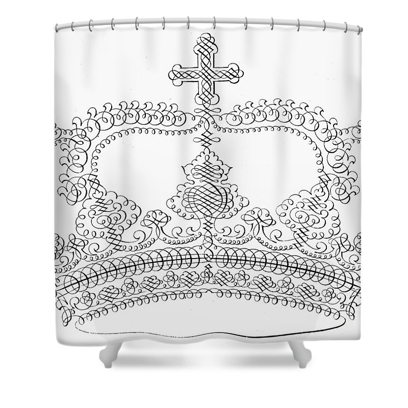 18th Century Shower Curtain featuring the photograph Calligraphy Crown by Granger