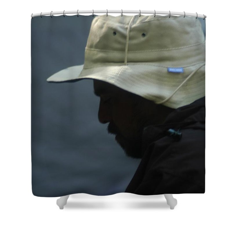 Beard Shower Curtain featuring the photograph Camp by Joseph Yarbrough