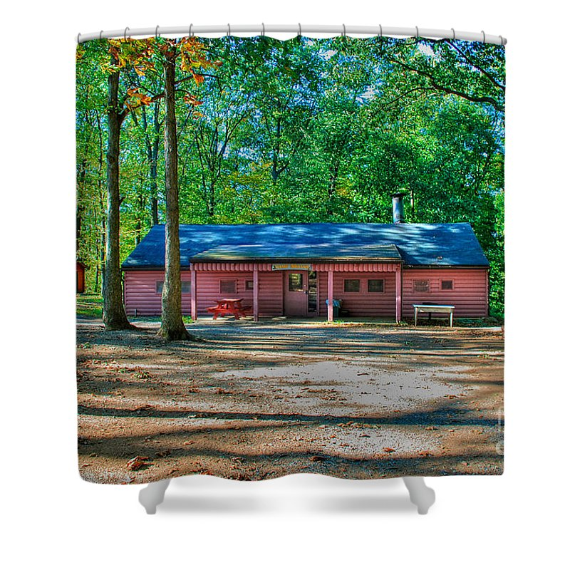Tonemapped Shower Curtain featuring the photograph Camp Milton by Mark Dodd