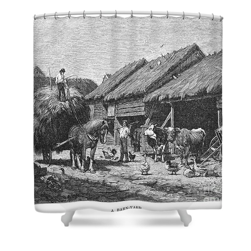 1883 Shower Curtain featuring the photograph Canada: Farming, 1883 by Granger