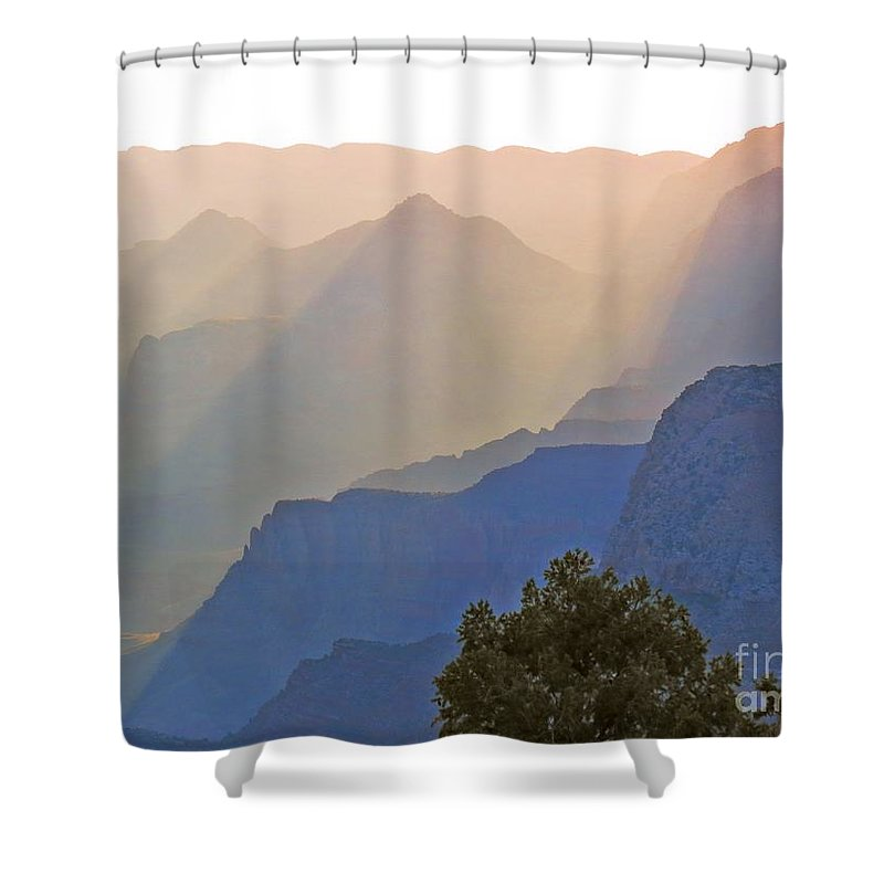 Grand Canyon Shower Curtain featuring the photograph Canyon Dawn by Rrrose Pix