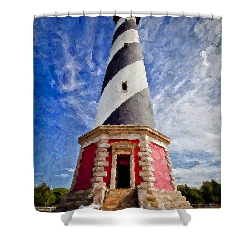 Cape Hatteras Lighthouse Shower Curtain For Sale By Lynne Jenkins