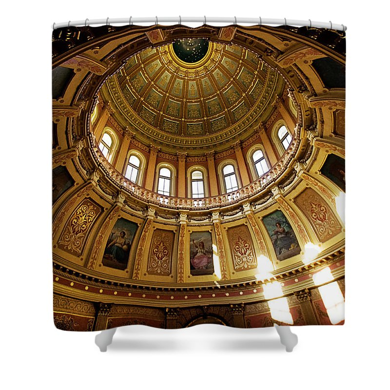 Lansing Shower Curtain featuring the photograph Capitol Dome by Chris Fleming