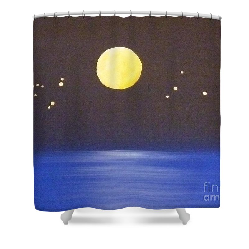 Destiny Shower Curtain featuring the painting Capricorn And Libra by Alys Caviness-Gober