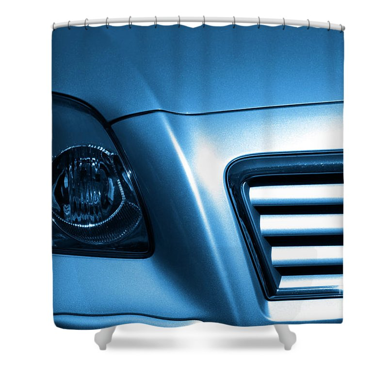 Acceleration Shower Curtain featuring the photograph Car Face by Carlos Caetano