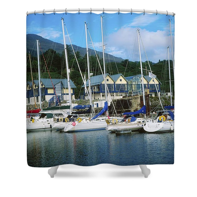 Ireland Shower Curtain featuring the photograph Carlingford Marina, Carlingford, County by The Irish Image Collection