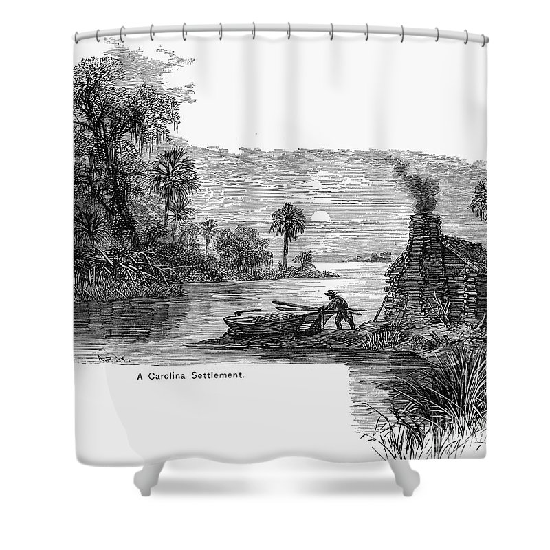 17th Century Shower Curtain featuring the photograph Carolina Settlement by Granger