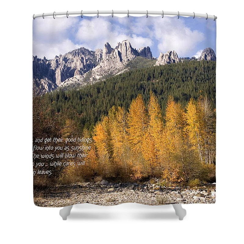 Castle Shower Curtain featuring the photograph Castle Crags Autumn by Mick Anderson