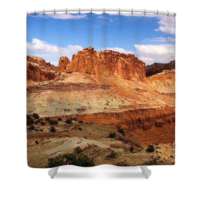 Castle Shower Curtain featuring the photograph Castle In The Distance by Adam Jewell