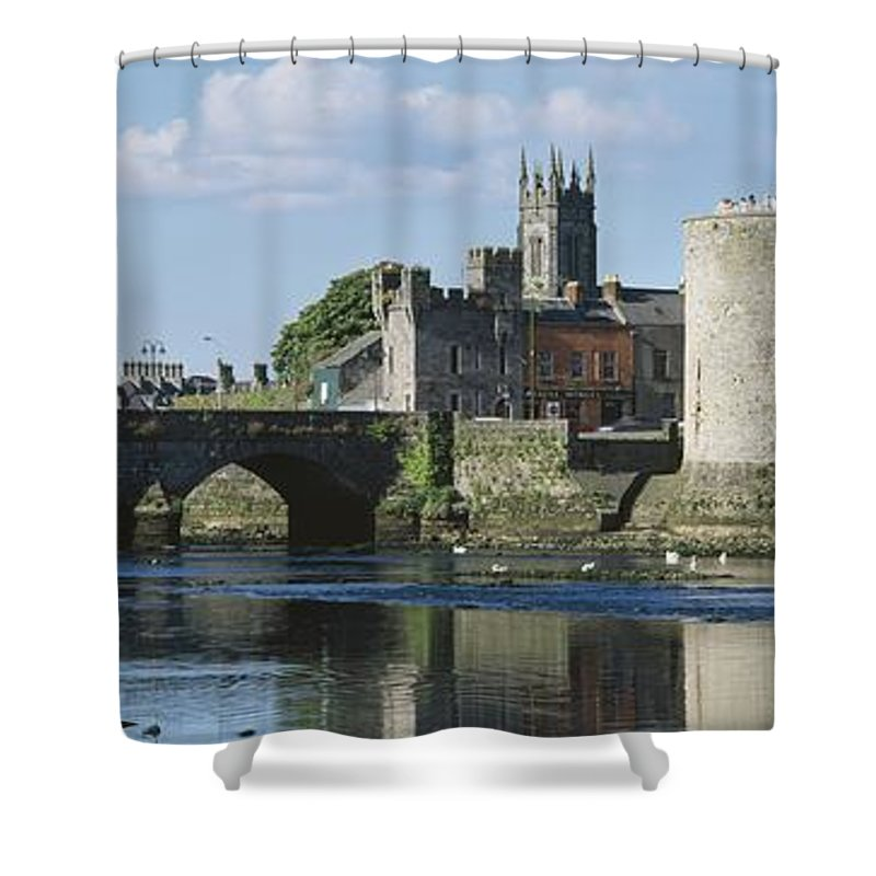 Attraction Shower Curtain featuring the photograph Castles, St Johns Castle, Co Limerick by The Irish Image Collection