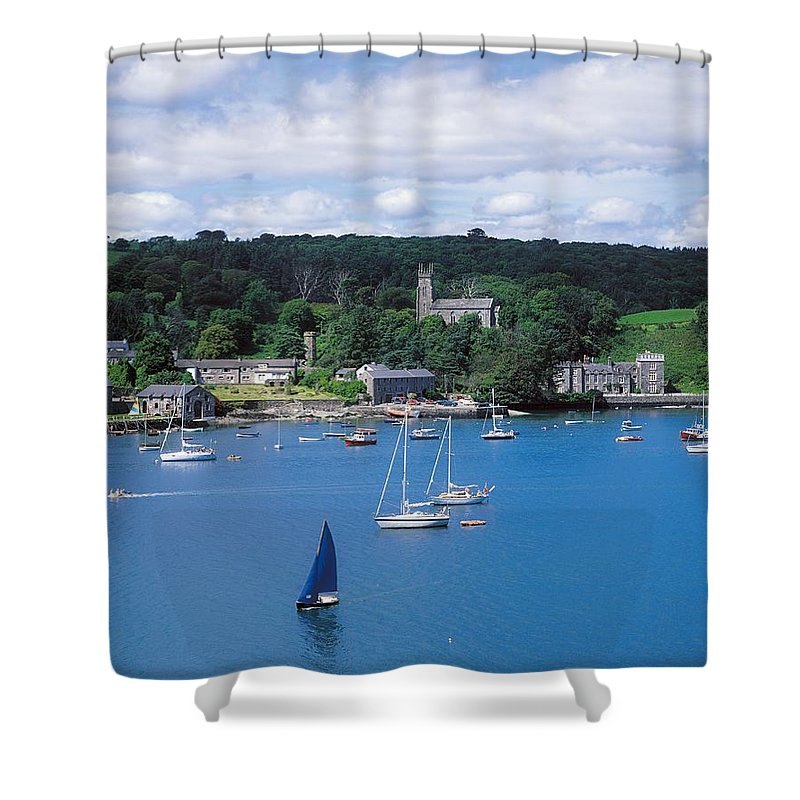Co. Cork Shower Curtain featuring the photograph Castletownsend, Co Cork, Ireland by The Irish Image Collection