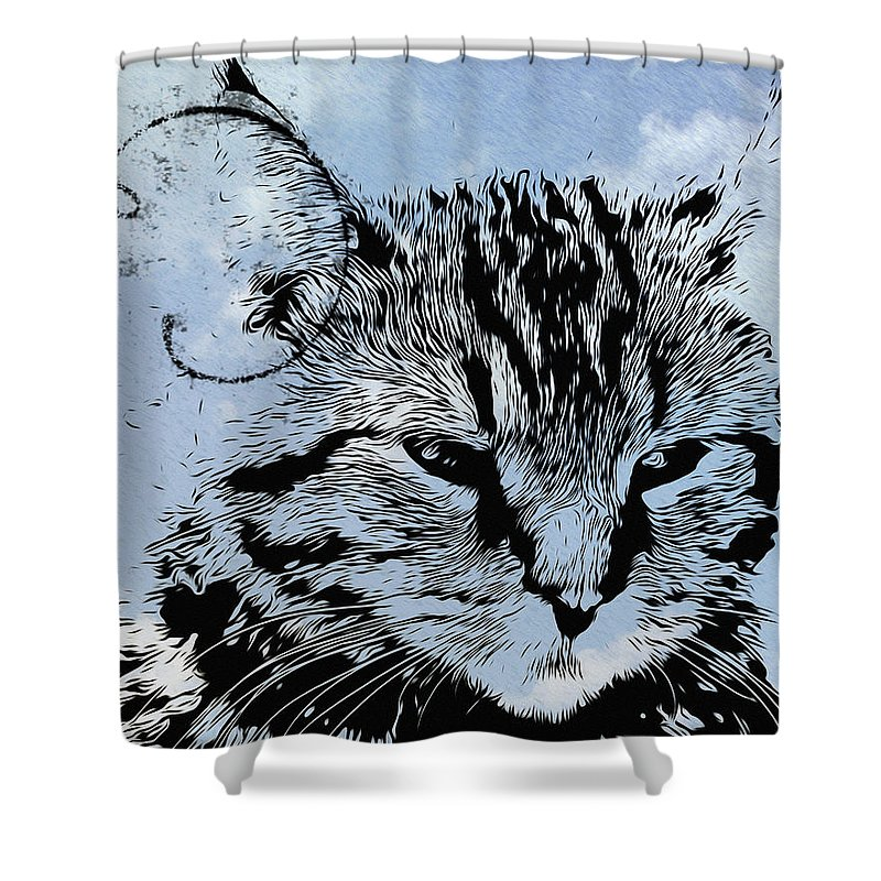 Catawampus Shower Curtain featuring the photograph Catawampus by Bill Cannon