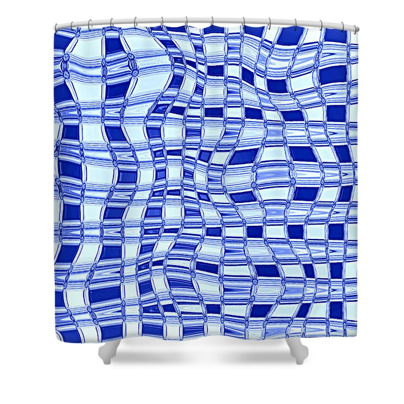 Abstract Shower Curtain featuring the photograph Catch A Wave - Blue Abstract by Carol Groenen