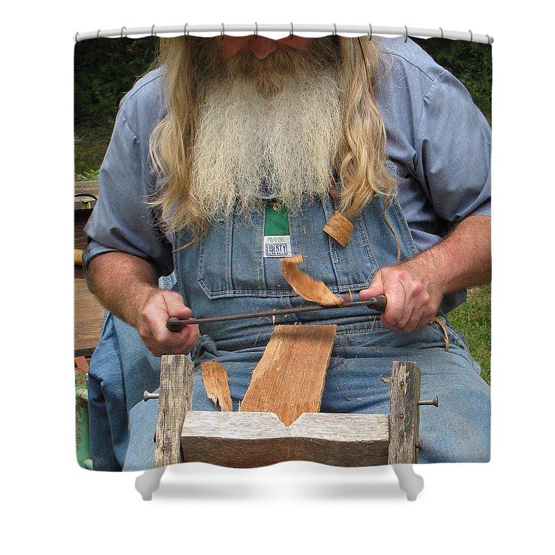 Cedar Shower Curtain featuring the photograph Cedar Shake Shavings by Kent Dunning