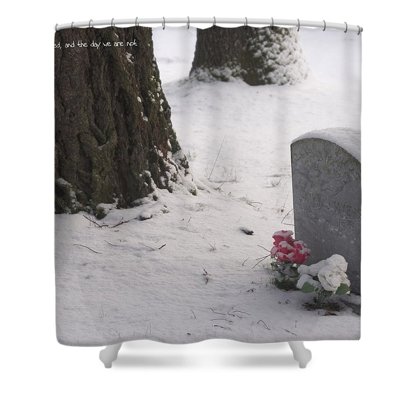 Cemetery Shower Curtain featuring the photograph Cemetery In Winter by Mick Anderson
