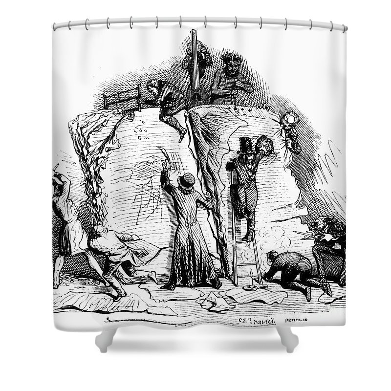 19th Century Shower Curtain featuring the photograph Censorship: Allegory by Granger