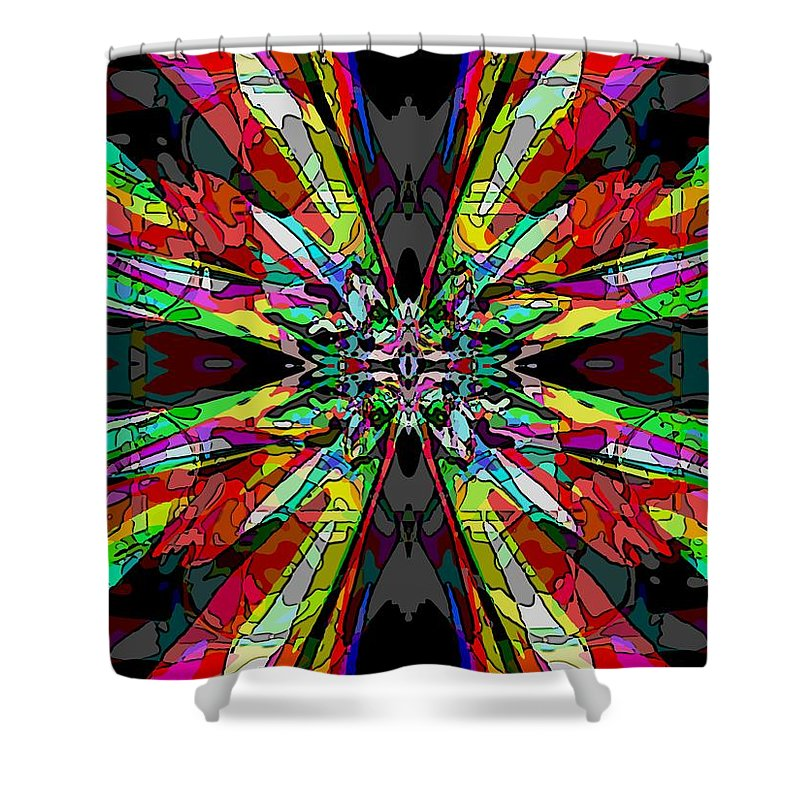 Abstract Shower Curtain featuring the digital art Center Stage by Tim Allen