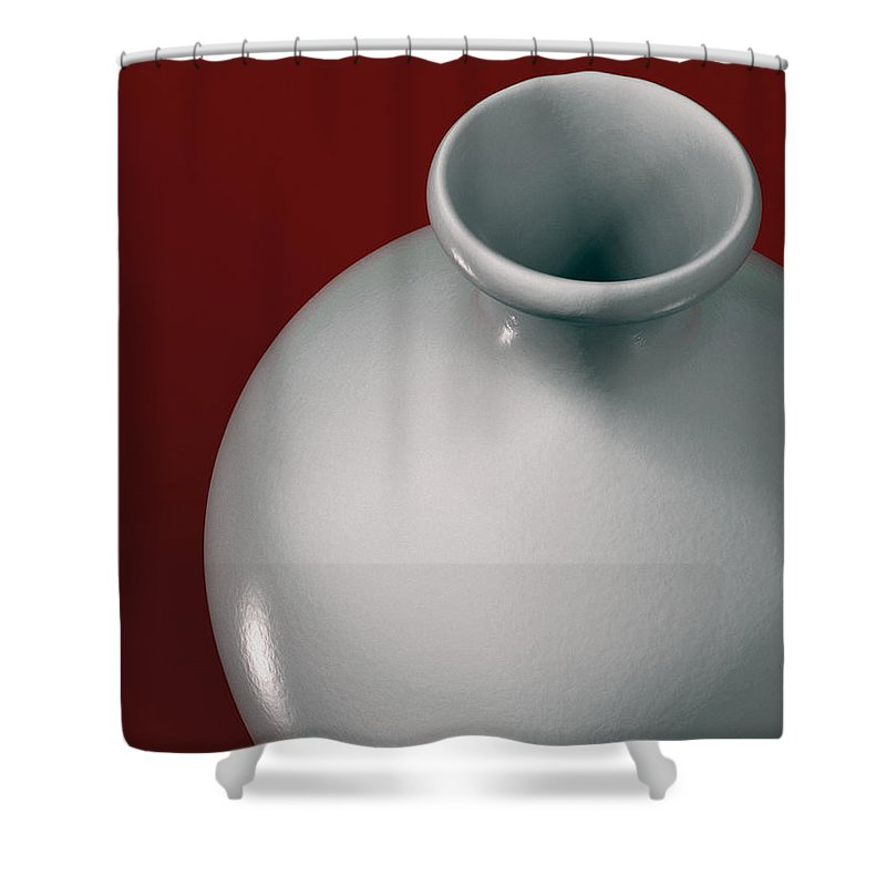 Vase Shower Curtain featuring the digital art Ceramic Vase by Richard Rizzo