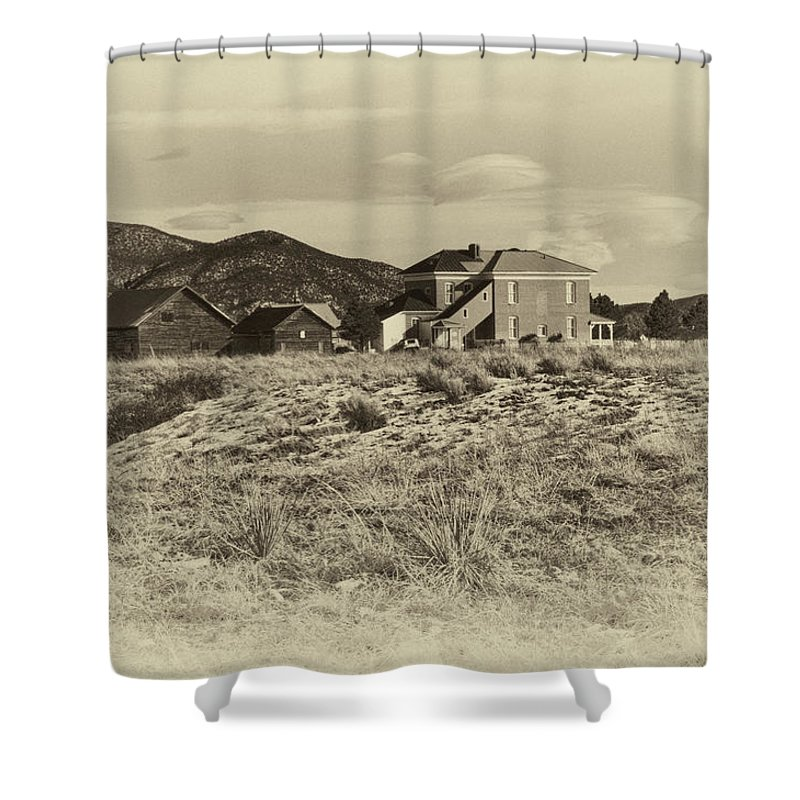 Chaffee Shower Curtain featuring the photograph Chaffee County Poor Farm Print by Charles Muhle