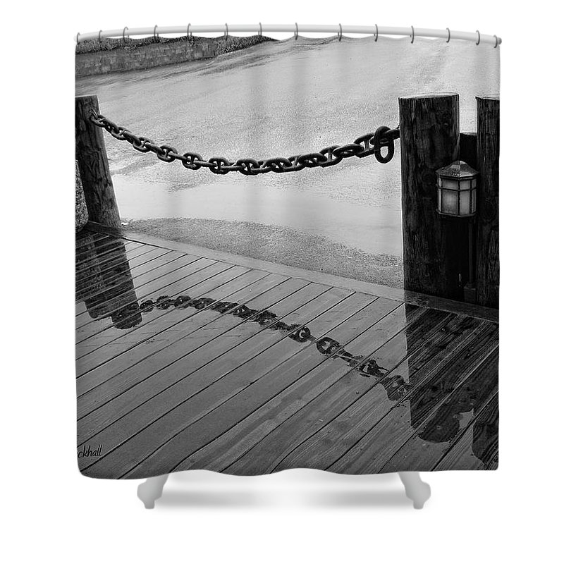 Chain Shower Curtain featuring the photograph Chained Together by Donna Blackhall
