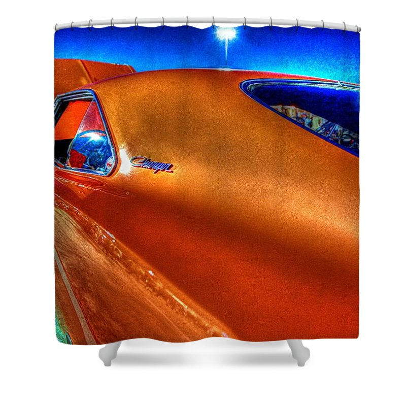 Niftee 50ees Twin Spin Cruise-in Shower Curtain featuring the photograph Charger by David Morefield