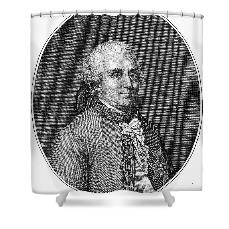 18th Century Shower Curtain featuring the photograph Charles De Vergennes by Granger