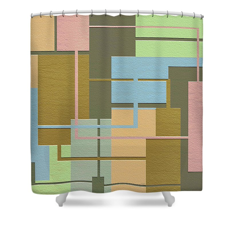 Abstract Art Shower Curtain featuring the digital art Check by Ely Arsha