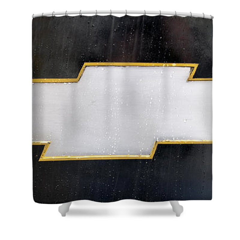 Chevy Shower Curtain Featuring The Photograph Bowtie By Glenn Gordon