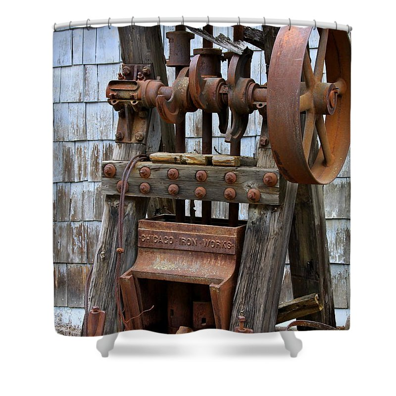 Chicago Shower Curtain featuring the photograph Chicago Iron Works by Karon Melillo DeVega