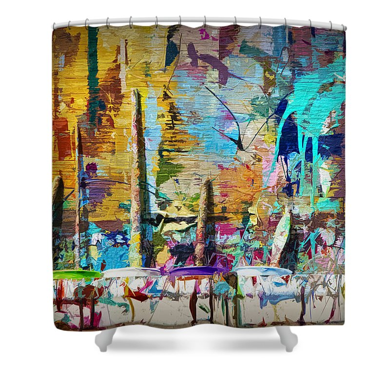 Art Shower Curtain featuring the photograph Child's Painting Easel by Randall Nyhof
