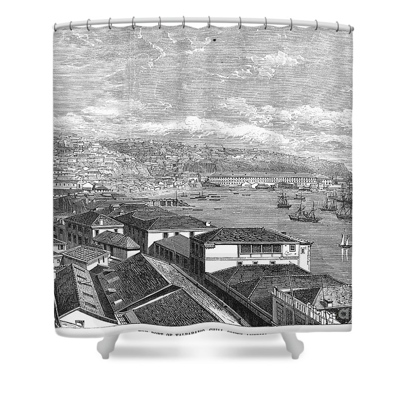 1865 Shower Curtain featuring the photograph Chile: Valparaiso, 1865 by Granger