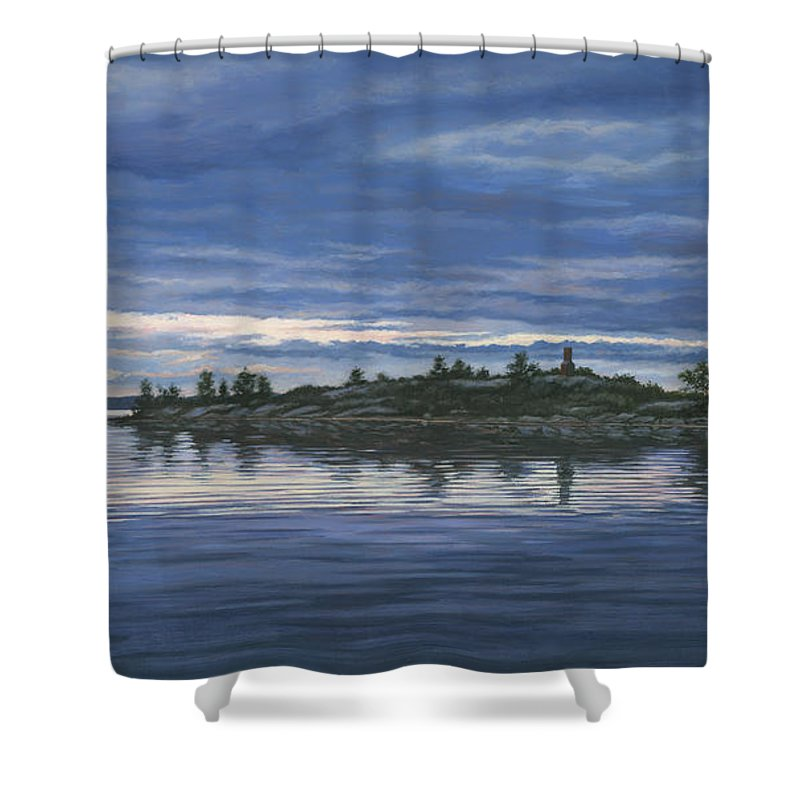 Island Shower Curtain Featuring The Painting Chimney By Richard De Wolfe