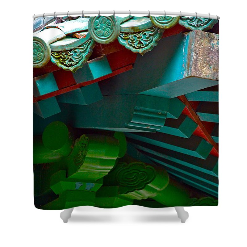 China Shower Curtain featuring the photograph Chinese Pagoda Roof Detail by Karon Melillo DeVega