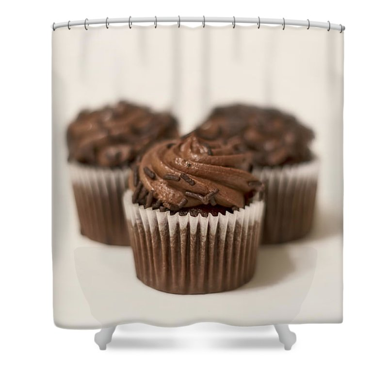 Chocolate Shower Curtain featuring the photograph Chocolate Indulgence by Evelina Kremsdorf