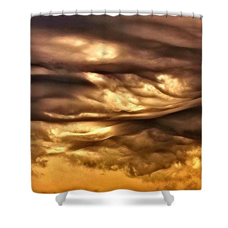 Clouds Shower Curtain featuring the photograph Chocolate Sky by One Rude Dawg Orcutt