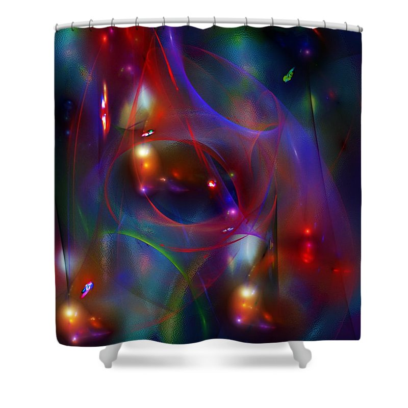 Fine Art Shower Curtain featuring the digital art Christmas Abstract 112711 by David Lane