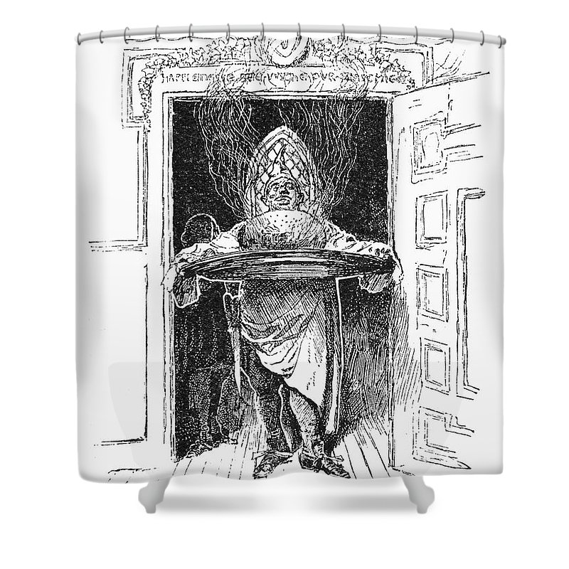 1882 Shower Curtain featuring the photograph Christmas Pudding, 1882 by Granger