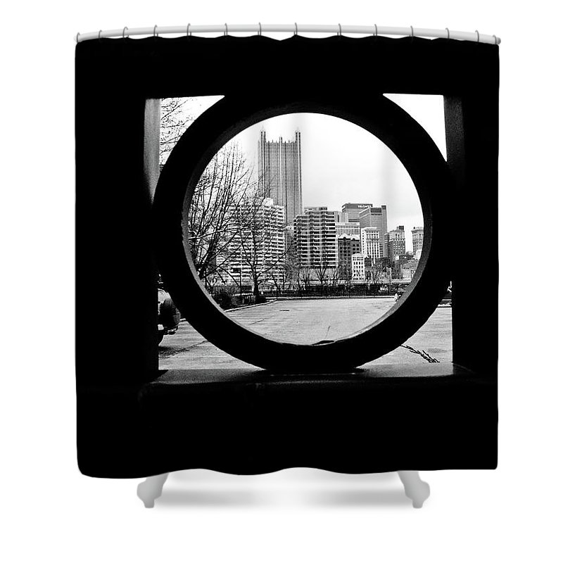 Circumference Shower Curtain featuring the photograph Circumference by Jessica Brawley