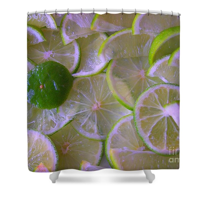 Citrons Verts - Green Lemon - Ile De La Reunion - Ile De La Reunion - Reunion Island - Ocean Indien - Indian Ocean Shower Curtain featuring the photograph Citrons Verts - Green Lemon - Ile De La Reunion by Francoise Leandre