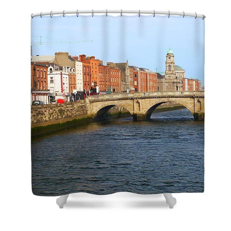 Architecture Shower Curtain featuring the photograph City Of Dublin by Artur Bogacki