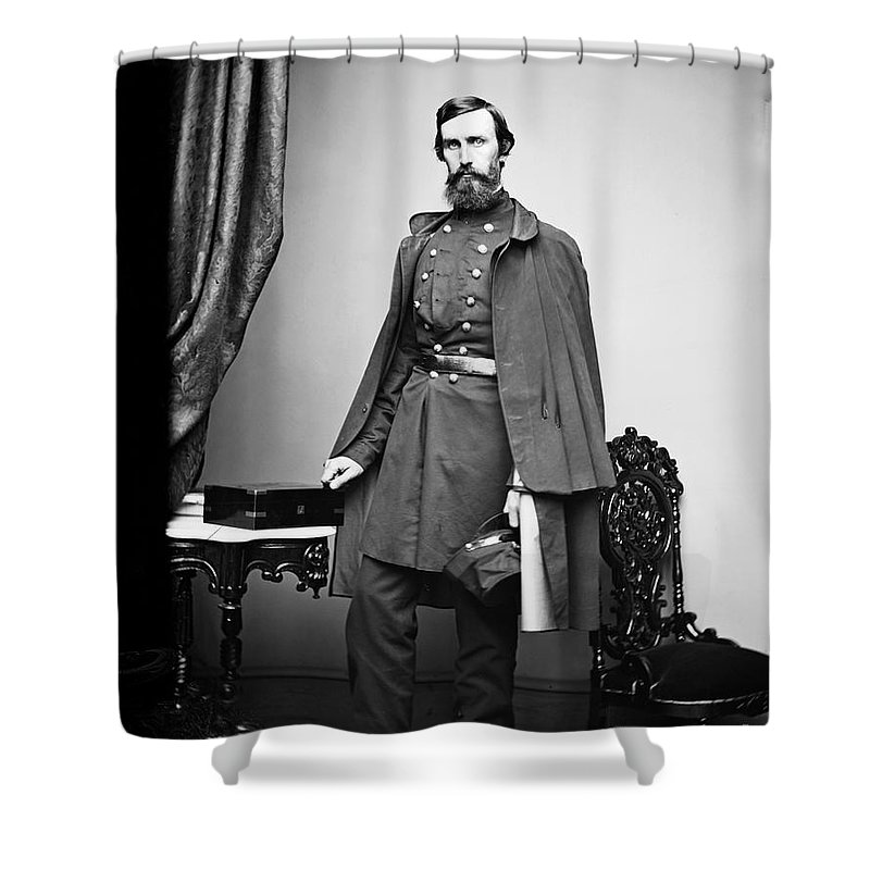 1863 Shower Curtain featuring the photograph Civil War: Paymaster by Granger