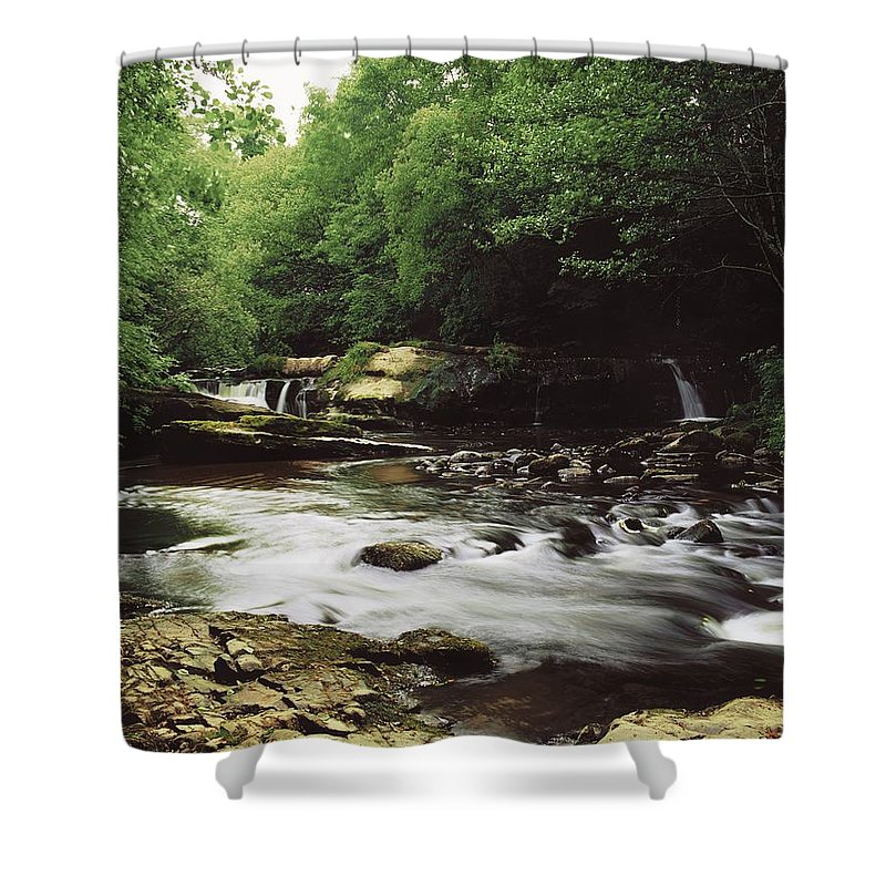 Outdoors Shower Curtain featuring the photograph Clare River, Clare Glens, Co Tipperary by The Irish Image Collection