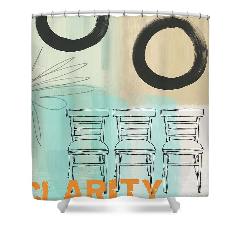 Abstract Shower Curtain featuring the painting Clarity by Linda Woods