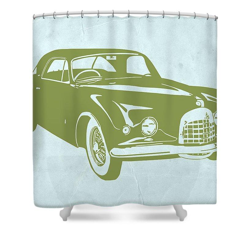 Classic Car Shower Curtain Featuring The Digital Art By Naxart Studio