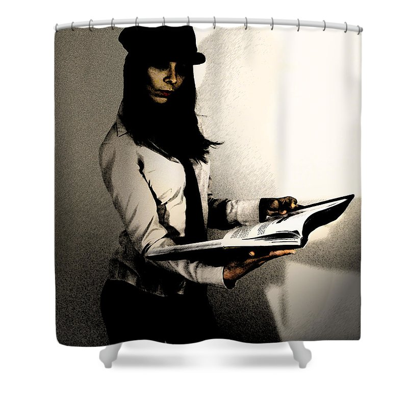 Reading Photographs Shower Curtains