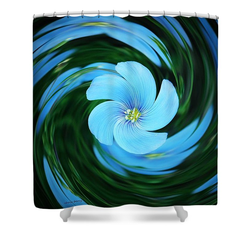 Nature Shower Curtain featuring the photograph Clear Blue by Chris Berry