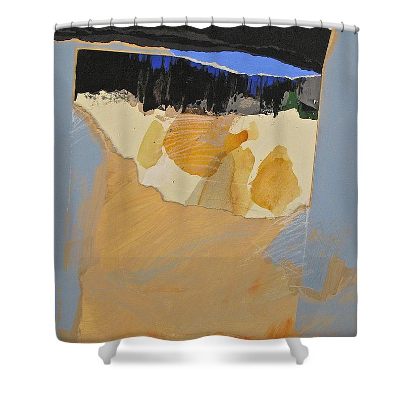 Abstract Paintings Shower Curtain featuring the painting Clearing by Cliff Spohn